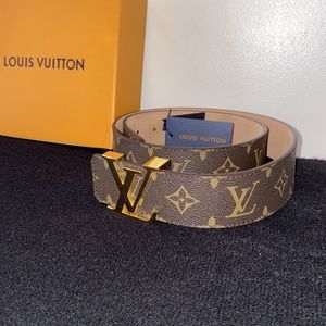 Louis Vuitton Brown Monogram Initiales Belt